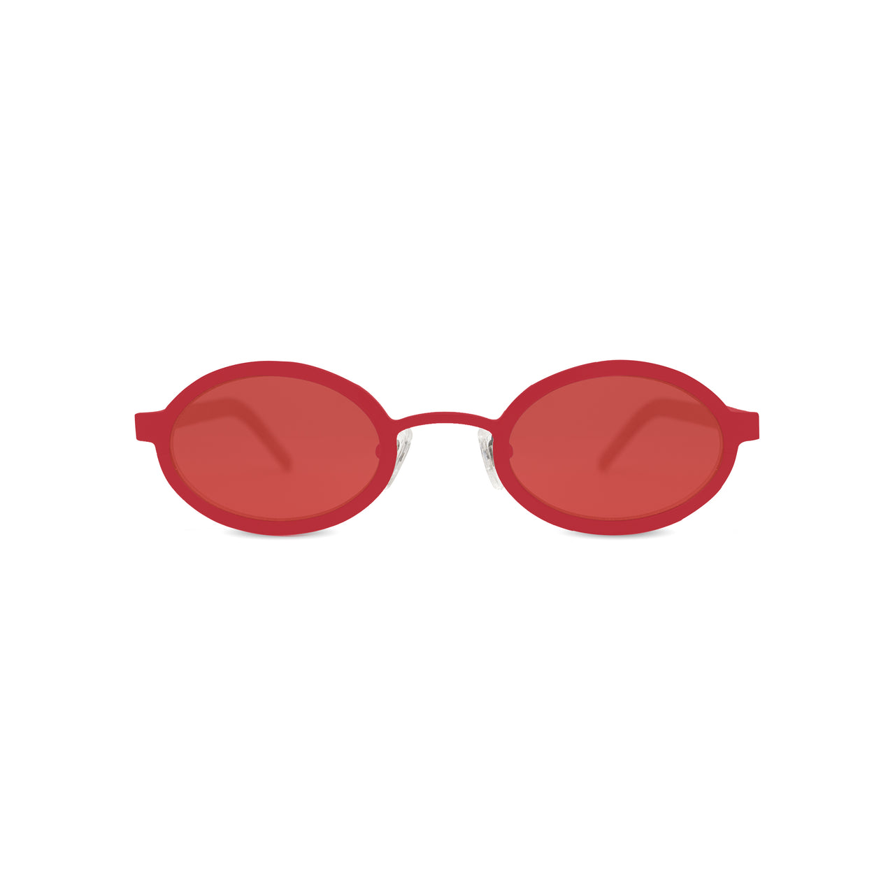 Metal / Horn. Scarlet / Blonde. Scarlet Lens. - BLYSZAK eyewear  - eyewear, optical, sunglasses