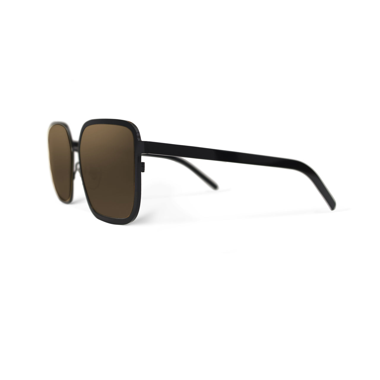 Metal. Gloss Black. Bronze Mirror Lens. - BLYSZAK eyewear eyewear - eyewear, optical, sunglasses