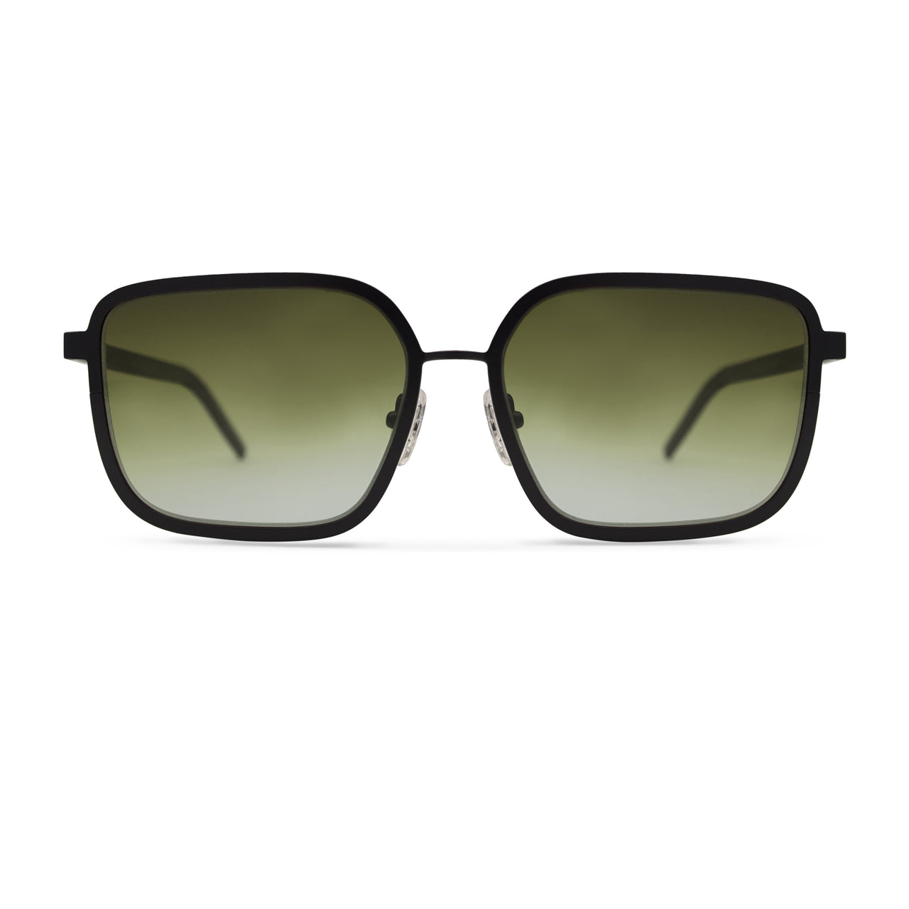 Metal. Gloss Black. Olive Lens. - BLYSZAK eyewear eyewear - eyewear, optical, sunglasses