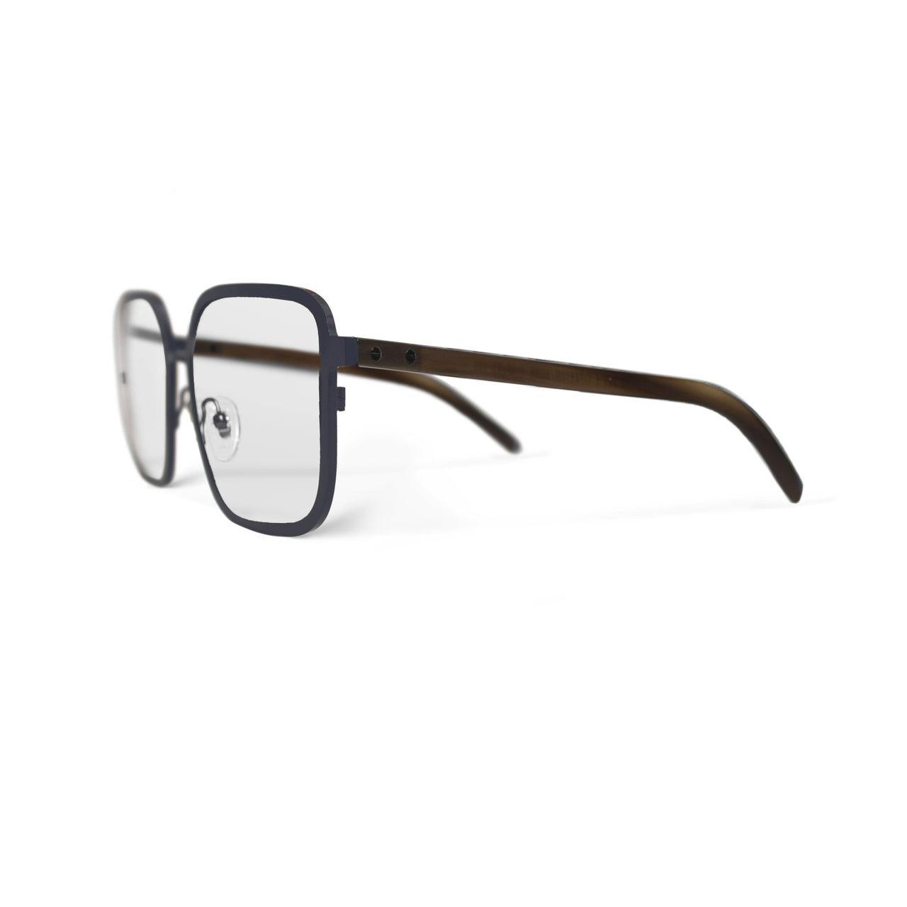Metal / Horn. Marine / Blonde. Clear Lens - BLYSZAK eyewear eyewear - eyewear, optical, sunglasses