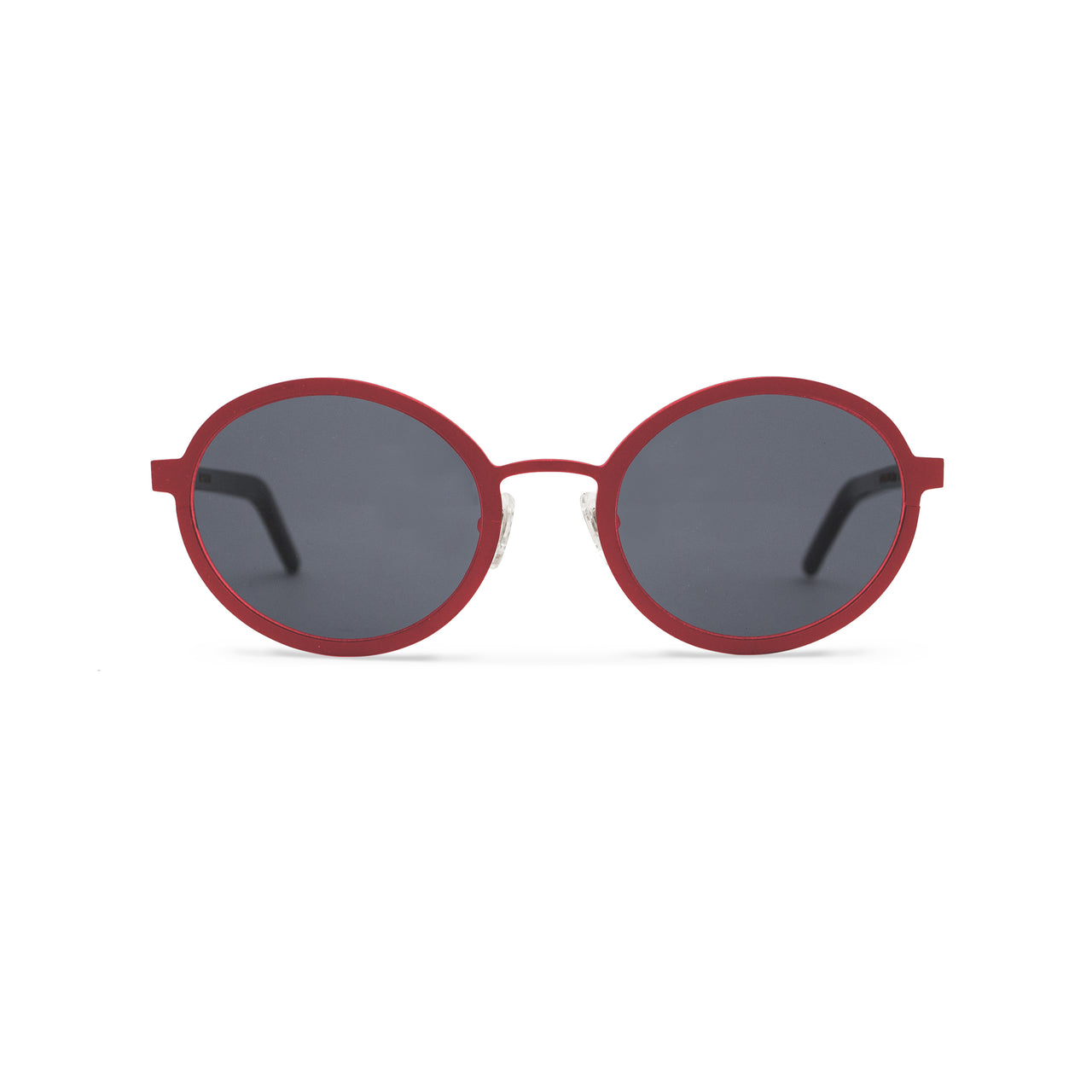 Metal. Gloss Scarlet. Smoke Lens. - BLYSZAK eyewear eyewear - eyewear, optical, sunglasses