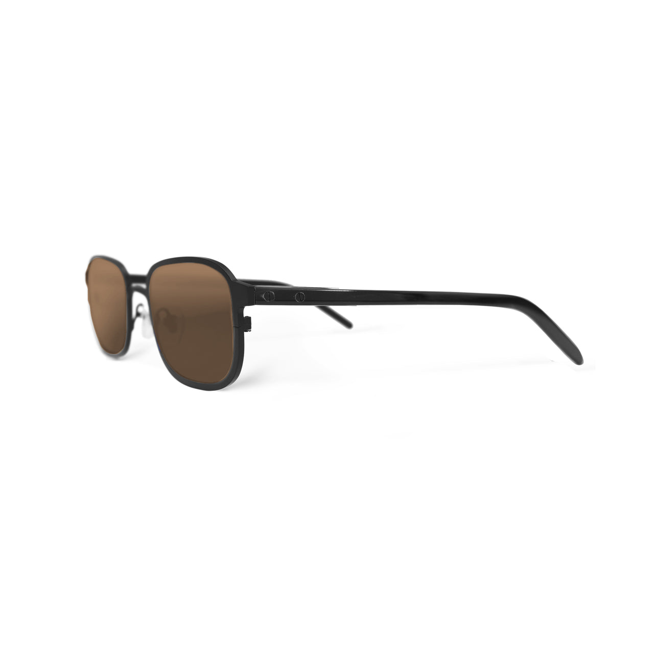Metal / Horn. Matte Black / Dark. Bronze Mirror Lens. - BLYSZAK eyewear eyewear - eyewear, optical, sunglasses