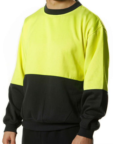 2 Tone Crew Neck - SW09 - J&M Workwear  - 1