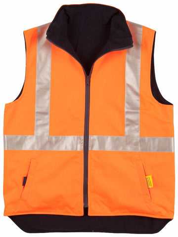 Reversible Safety Vest with 3M Tapes - SW19A - J&M Workwear  - 2