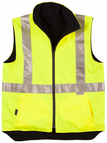 Reversible Safety Vest with 3M Tapes - SW19A - J&M Workwear  - 1