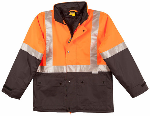2 Tone Rain Proof Jacket with Quilt Lining - SW28A - J&M Workwear  - 1