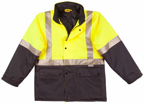 2 Tone Rain Proof Jacket with Quilt Lining - SW28A - J&M Workwear  - 2