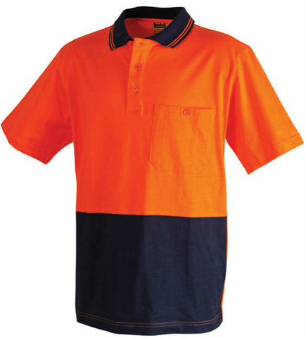 2 Tone Short Sleeve Safety Polo - SW35 - J&M Workwear  - 2