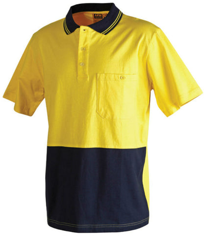 2 Tone Short Sleeve Safety Polo - SW35 - J&M Workwear  - 1