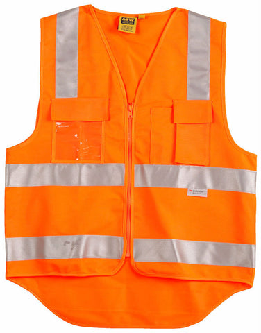 Safety Vest with ID Pocket & 3M Tapes - SW42 - J&M Workwear  - 1
