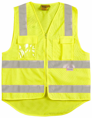 Safety Vest with ID Pocket & 3M Tapes - SW42 - J&M Workwear  - 2