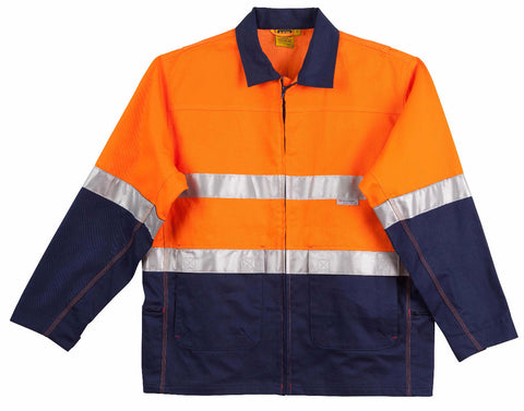 Cotton Jacket with 3M Tapes - SW46 - J&M Workwear  - 1