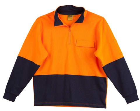 2 Tone Cotton Fleecy Sweat - SW47 - J&M Workwear  - 1
