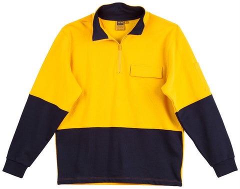 2 Tone Cotton Fleecy Sweat - SW47 - J&M Workwear  - 2