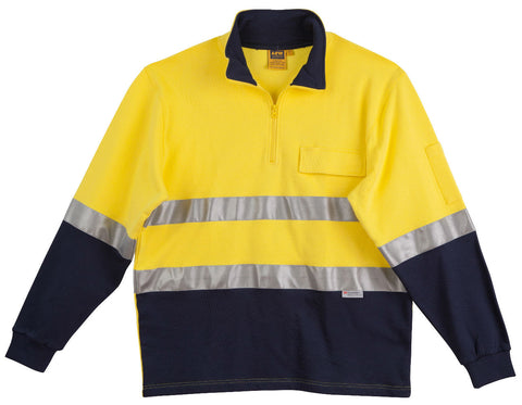 2 Tone Cotton Fleecy Sweat - SW48 - J&M Workwear  - 2
