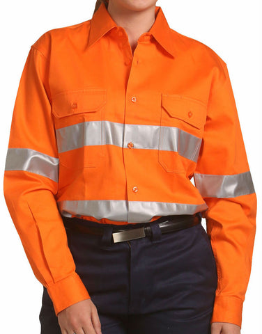 Cotton Drill Safety Shirt - SW52 - J&M Workwear