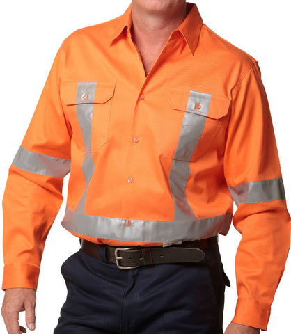 Cotton Drill Safety Shirt - SW56 - J&M Workwear