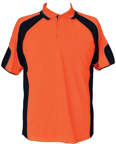 Hi-Vis Polo with Underarms Mesh - SW61 - J&M Workwear  - 2