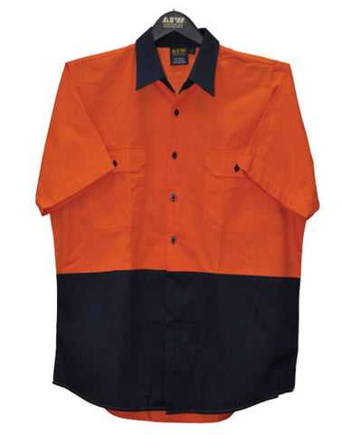 Short Sleeve Safety Shirt - SW63 - J&M Workwear  - 1