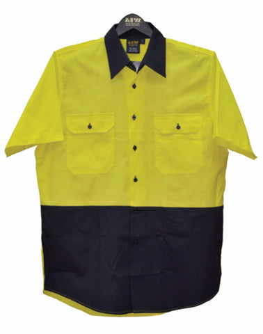 Short Sleeve Safety Shirt - SW63 - J&M Workwear  - 2