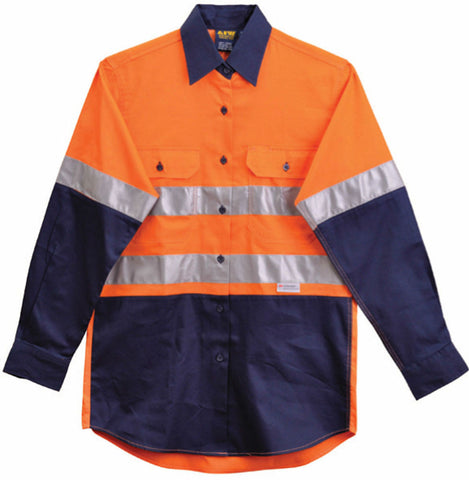 Long Sleeve Safety Shirt - SW65 - J&M Workwear  - 1