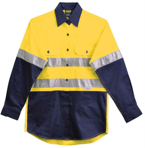 Long Sleeve Safety Shirt - SW65 - J&M Workwear  - 2