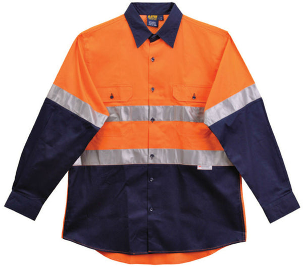 Long Sleeve Safety Shirt - SW68 - J&M Workwear  - 1