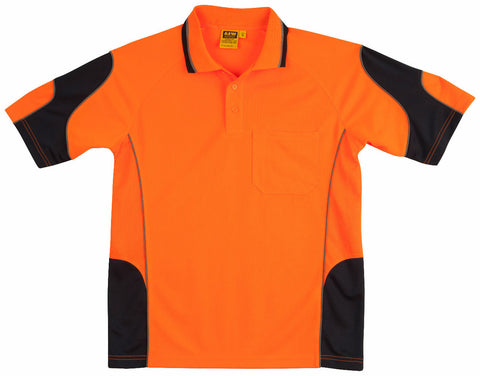 Alliance Short Sleeve Safety Polo - SW71 - J&M Workwear  - 1