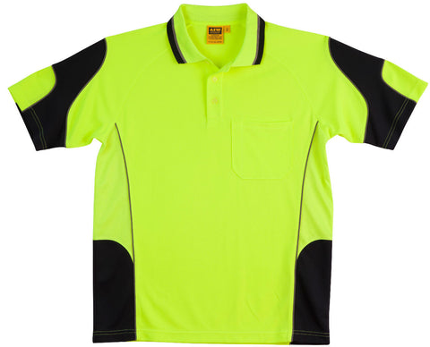 Alliance Short Sleeve Safety Polo - SW71 - J&M Workwear  - 2