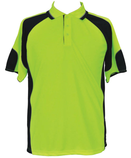 Hi-Vis Polo with Underarms Mesh - SW61 - J&M Workwear  - 1