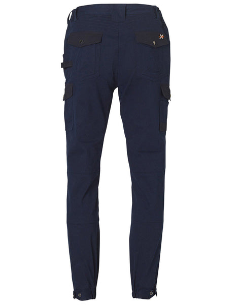 Back of WP22 Navy Work Cargo Pants - J&M Workwear