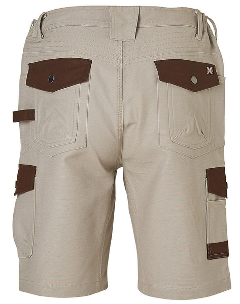 Back of WP22 Sand Tradie Cargo Work Shorts