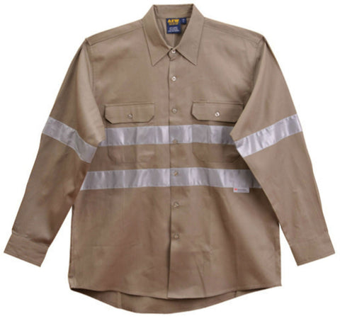 Cotton Drill Work Shirt - WT04HV - J&M Workwear  - 2