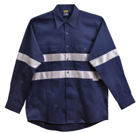 Cotton Drill Work Shirt - WT04HV - J&M Workwear  - 1
