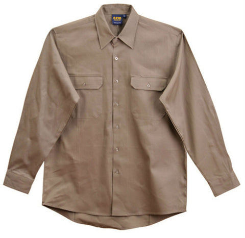 Cotton Drill Work Shirt - WT04 - J&M Workwear  - 2