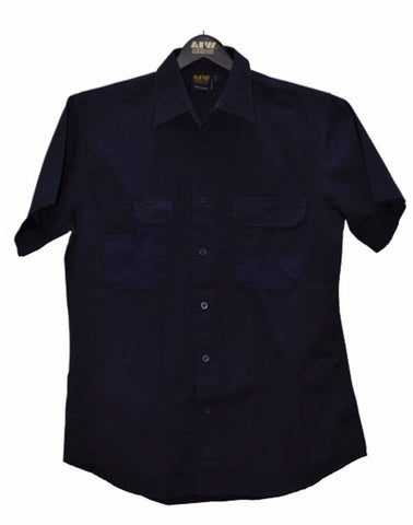 Durable Short Sleeve Work Shirt - WT05 - J&M Workwear  - 1