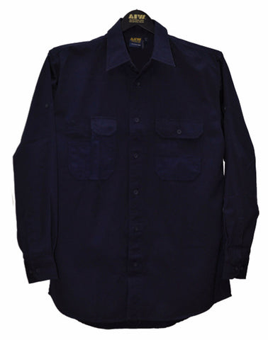 Durable Long Sleeve Work Shirt - WT06 - J&M Workwear  - 1