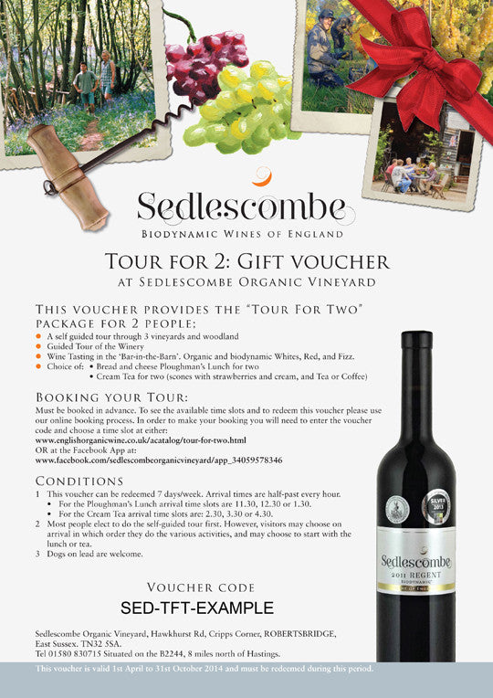 """Tour for Two"" Gift Voucher"