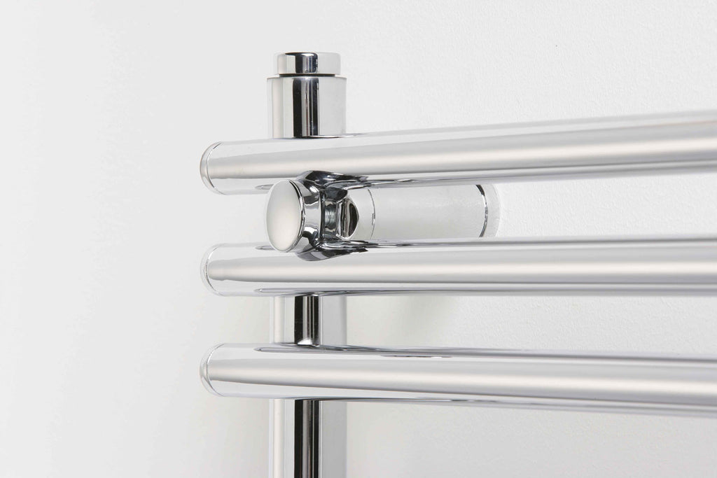 Brushed Chrome Bathroom Radiators: Arna (Tubes) Designer Radiator