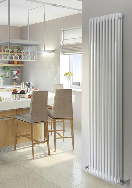 Milan (Vertical) White - 3 column - (H)1800mm