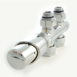 50mm Twin Thermostatic Chrome Valve