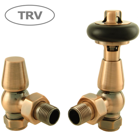 Olde Thermostatic Radiator Valve - Antique Copper