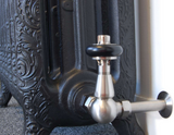 Olde Corner Thermostatic Radiator Valve - Old English Brass TRV