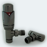 Modern Black Satin Thermostatic Valves