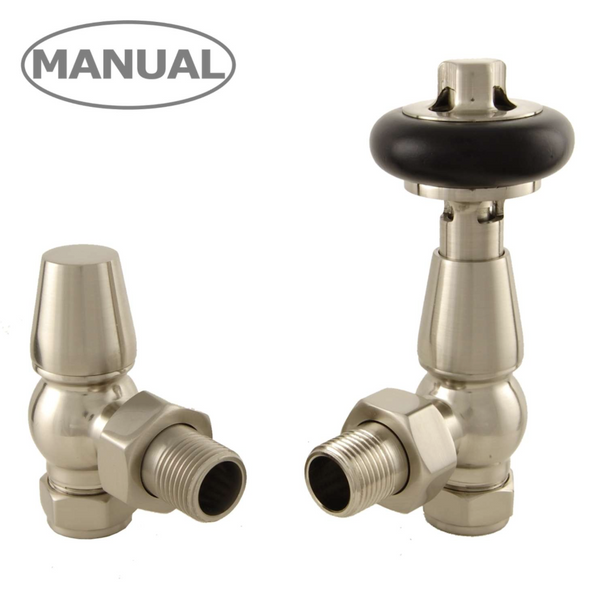 Olde Manual Radiator Valve - Satin Nickel Manual