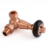 Olde Corner Thermostatic Radiator Valve - Brushed Copper TRV