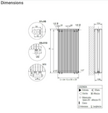 Como (White) Designer Radiator Technical