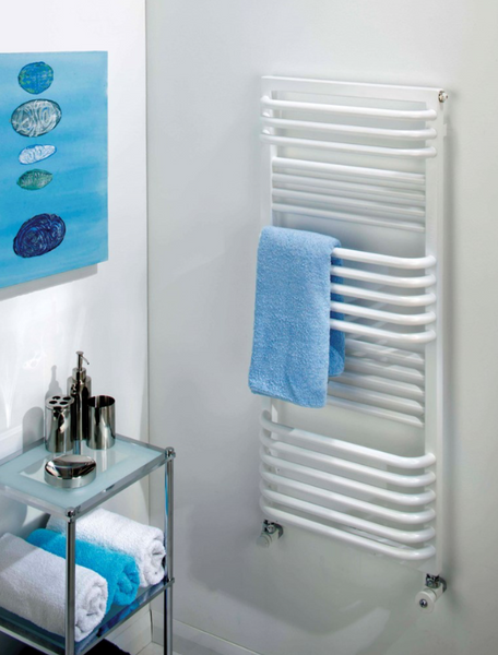 Poll (White) Towel Rail (Electric Only)