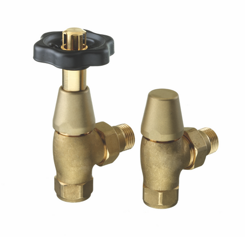 The Radiator Company Black & Brass Thermostatic Valves