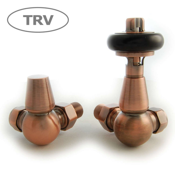Olde Corner Thermostatic Radiator Valve - Antique Copper TRV